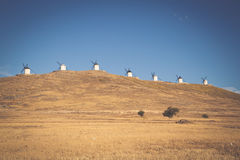 Windmills of Don Quixote. Cosuegra, Spain Royalty Free Stock Photos