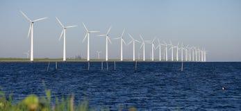 Windmills on a dutch stock photo