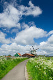 Windmills at Dutch Zaanse Schans Stock Photography