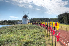 Windmills, Ecoland Theme Park, Jeju Island Royalty Free Stock Photos