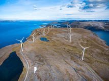 Windmills for electric power production Royalty Free Stock Photography