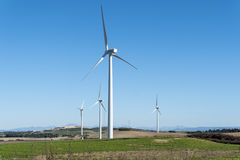 Windmills for electric power production, eco power, wind turbine Stock Photos