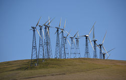 Windmills for Electric Power Production Royalty Free Stock Photos