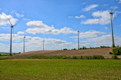 Windmills for electric power production Stock Images