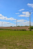 Windmills for electric power production Royalty Free Stock Photo