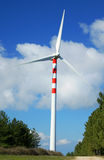 Windmills, Eolic. Eolic power generators. Beautiful sky blue and clean Stock Photography