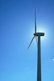 Windmills, Eolic. Eolic power generators. Beautiful sky blue and clean Stock Photo