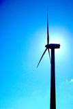 Windmills, Eolic. Eolic power generators. Beautiful sky blue and clean Royalty Free Stock Photo