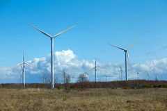 Windmills in Estonia, Europe. Royalty Free Stock Images