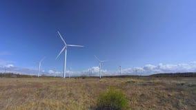 Windmills in Estonia, Europe. stock footage