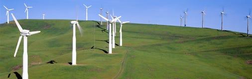 Windmills för Windenergi Arkivbild