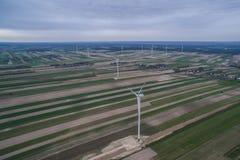 Windmills farm Stock Photo