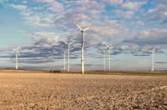 Windmills in the field in Germany Stock Image