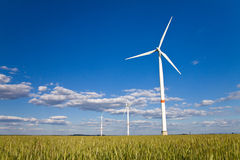 Windmills in a field Royalty Free Stock Photography