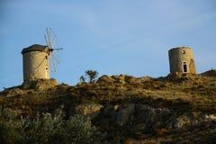 Windmills in Foca Turkey Royalty Free Stock Images