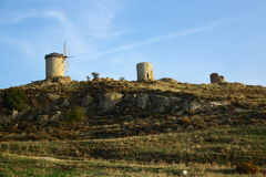 Windmills in Foca Turkey Stock Photo