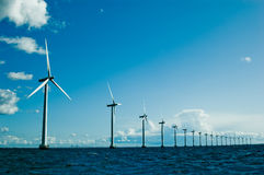 Windmills further, horizontal Stock Photos