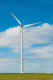 Windmills for generating electricity. Picture of windmills for generating electricity Stock Photos