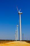 Windmills generating electricity Stock Photo