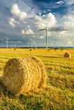 Windmills generating green energy Stock Image