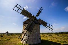 Windmills on Gotland, Sweden Stock Images
