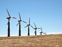 Windmills and Grasslands Stock Photography