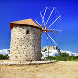 Windmills of Greece royalty free stock photography