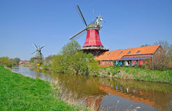 Windmills,Greetsiel,Germany Royalty Free Stock Photography