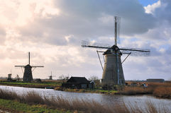 Windmills of Holland Royalty Free Stock Photography