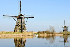 windmills from Holland Royalty Free Stock Images