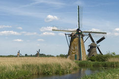 Windmills from Holland. Picture taken in central Holland near Kinderdijk Royalty Free Stock Image