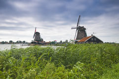 Windmills in holland Stock Images
