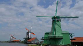 The windmills of Holland - typical landmark in the Netherlands - Amsterdam - The Netherlands - July 19, 2017 stock video