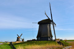 Windmills in Holland Stock Image