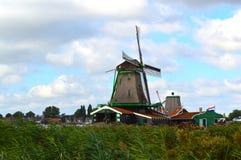 Windmills i Amsterdam fotografering för bildbyråer