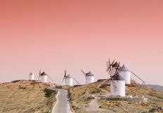 Windmills i Consuegra, Spanien. Arkivfoto
