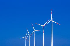 Windmills ia a row Stock Images