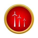 Windmills icon, simple style Stock Photos
