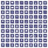 100 windmills icons set grunge sapphire. 100 windmills icons set in grunge style sapphire color isolated on white background vector illustration Stock Photos