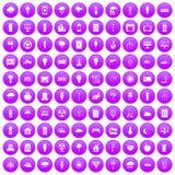 100 windmills icons set purple. 100 windmills icons set in purple circle isolated on white vector illustration vector illustration
