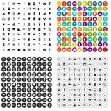 100 windmills icons set vector variant. 100 windmills icons set vector in 4 variant for any web design isolated on white Stock Photography