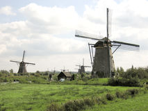 Windmills iin the Netherlands Royalty Free Stock Photo