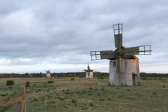 Free Windmills In Field In Gotland, Sweden Royalty Free Stock Photos - 57195248