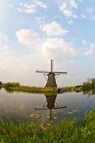 Windmills In Kinderdijk, Netherlands Royalty Free Stock Images