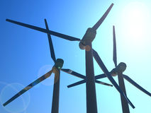 Windmills isolated Stock Photography
