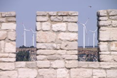 Windmills in Kaliakra Royalty Free Stock Photography