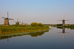 Windmills at Kinderdijk. Windmills at the famous Kinderdijk, Netherlands Stock Image