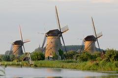 Windmills at Kinderdijk. A set of windmills at Kinderdijk, the Netherlands Royalty Free Stock Photos