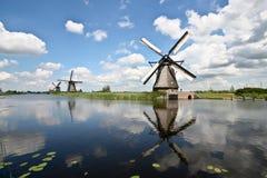 Windmills at Kinderdijk. A windmill at Kinderdijk, the Netherlands Royalty Free Stock Photos