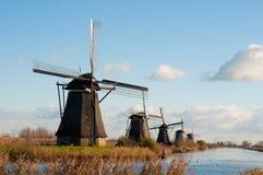 Windmills in Kinderdijk Stock Photo